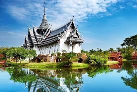 Đền cá khổng lồ gần Bangkok - nơi chụp ảnh hoàng hôn ấn tượng
