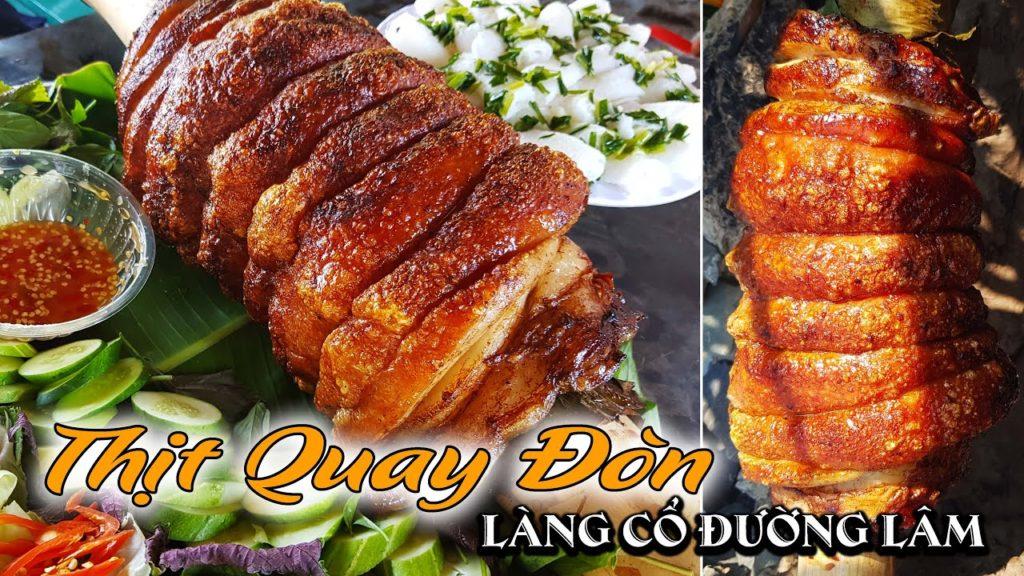 Thịt quay đòn giòn rụm ở làng cổ Đường Lâm-Hà Nội